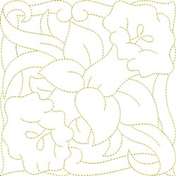 Daffodil Bouquet Quilt Block embroidery design