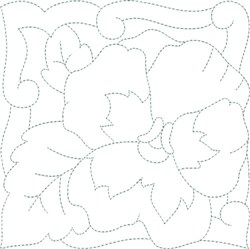 Pastel Flower Quilt Block embroidery design