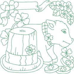 Saint Paddy Block embroidery design