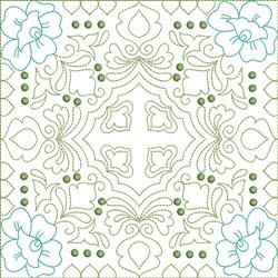 Multi Color Quilt Block embroidery design