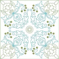 Multi Color Motif Quilt Block embroidery design