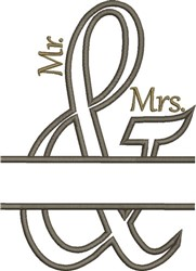 Mr and Mrs Ampersand Wedding Applique embroidery design