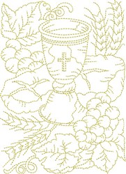 Religious Foods embroidery design