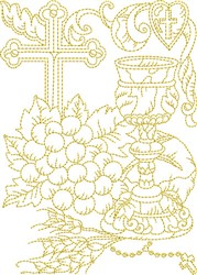Religious Symbols embroidery design
