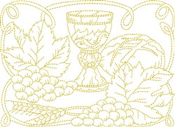 Christian Communion embroidery design