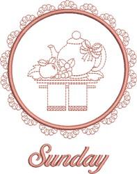 Sunday Tea Towel embroidery design