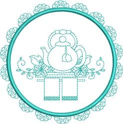 Tea Towel Teapot embroidery design