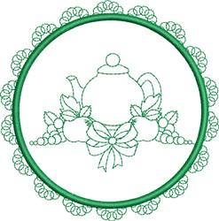 Round Tea Towel embroidery design