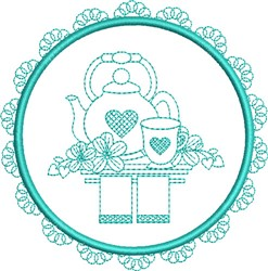 Round Tea Towels embroidery design