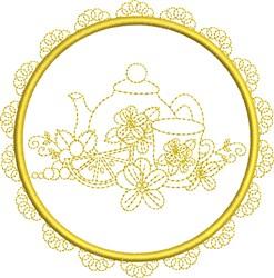 Round Tea Service embroidery design