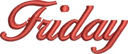 Friday embroidery design