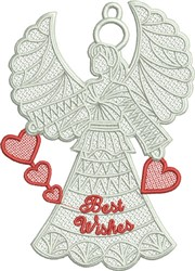 FSL Best Wishes Angel embroidery design