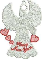 FSL New Year Angel embroidery design