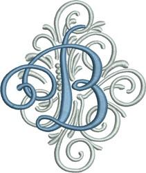 Adorn Monogram B embroidery design