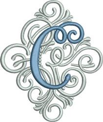 Adorn Monogram  C embroidery design
