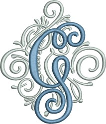 Adorn Monogram G embroidery design