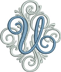 Adorn Monogram U embroidery design