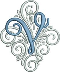Adorn Monogram V embroidery design