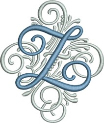Adorn Monogram Z embroidery design