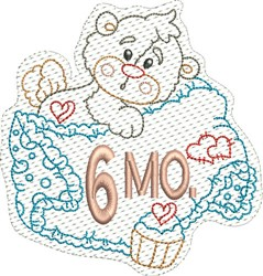 Baby 6 Months embroidery design