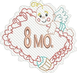 Baby 8 Months embroidery design