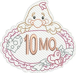 Baby 10 Months embroidery design