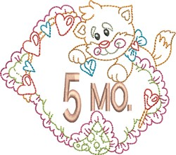 Baby 5 Month Outline embroidery design