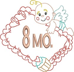 Baby 8 Month embroidery design