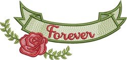 Forever Banner embroidery design