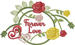 Forever Love Roses embroidery design