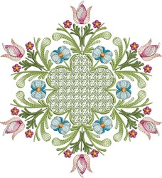 Tulip Quilt embroidery design