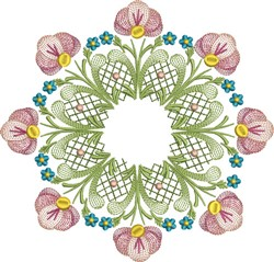 Tulip Blossoms embroidery design