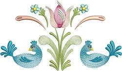 Tulip Birds embroidery design
