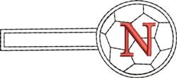 Soccer Key Fob N embroidery design