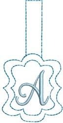 Monogrammed Keyfob Letter A embroidery design