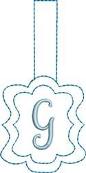 Monogrammed Keyfob Letter G embroidery design