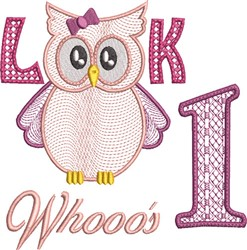 Look Whooos 1 Girl embroidery design