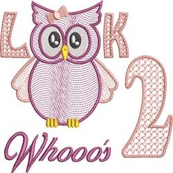 Look Whooos 2 embroidery design