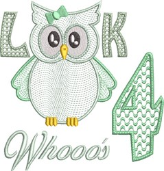 Look Whooos 4 embroidery design