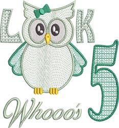 Look Whooos 5 embroidery design