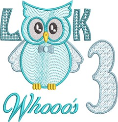 Look Whooos 3 embroidery design