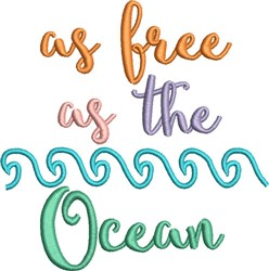 Free As The Ocean embroidery design
