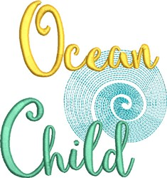 Ocean Child embroidery design