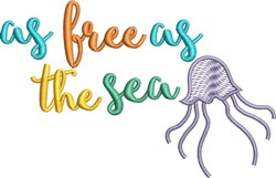 Free As The Sea embroidery design