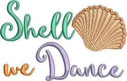 Shell We Dance embroidery design