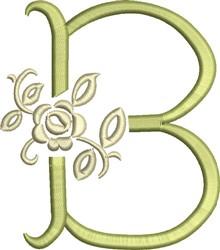 Tuscan Rose Monogram B embroidery design