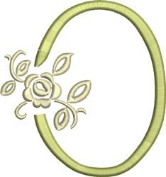 Tuscan Rose Monogram O embroidery design