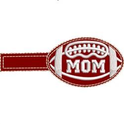 Football Key Fob Mom embroidery design