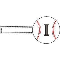 Baseball Key Fob I embroidery design