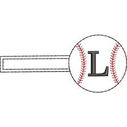 Baseball Key Fob L embroidery design
